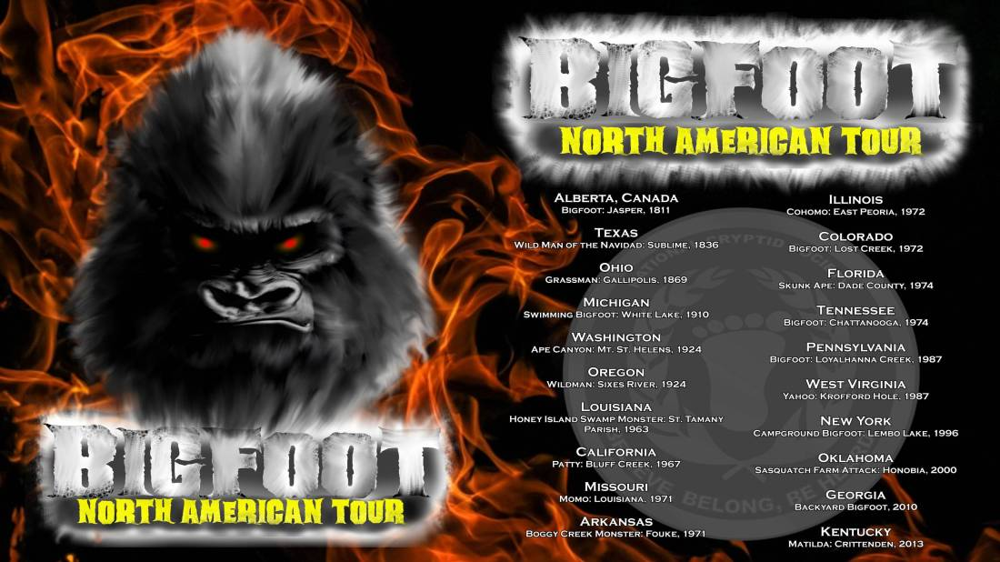 Bigfoot North American Tour Flyer fire