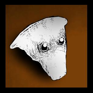 Grey humanoid head