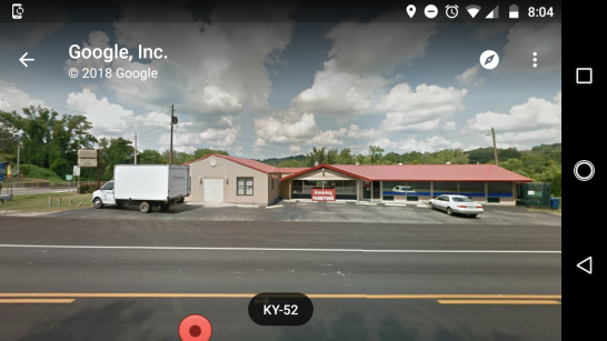Former restaurant, behind which the sighting occurred. Image via Google Maps.